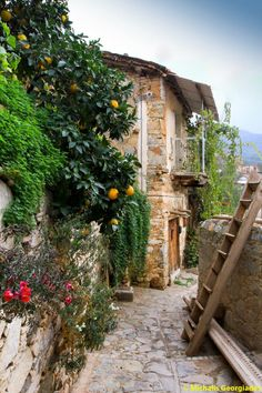 Cyprus Lefkosia Gourri village. Gourri is a traditional village in the Lefkosia (Nicosia) district found at the foothill of the Machairas Mountain.