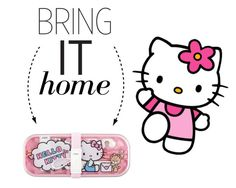 """""""Bring It Home: Hello Kitty Cutlery Set"""" by polyvore-editorial ❤ liked on Polyvore featuring interior, interiors, interior design, home, home decor, interior decorating, Hello Kitty and bringithome"""