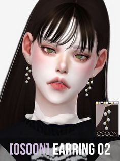 [Osoon] Earring 02 9 Swatches New Mesh Custom...