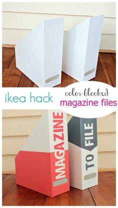Ikea Kvissle Magazine File Makeover: fun way to spruce up organization