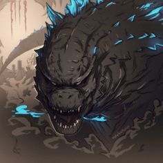 King of the Monsters on Behance All Godzilla Monsters, Godzilla Comics, Cool Monsters, Hyper Beast Wallpaper, King Kong Vs Godzilla, Godzilla Wallpaper, Monster Board, Mythical Creatures, Queen
