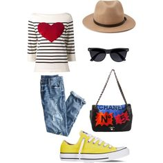 A fashion look from February 2015 featuring Marc Jacobs sweaters, J.Crew jeans and Converse sneakers. Browse and shop related looks.