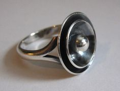 Vintage Niels Erik From Sterling Silver Modernist Ring Denmark (Size 5.25) 4G | Jewelry & Watches, Vintage & Antique Jewelry, Vintage Ethnic/Regional/Tribal | eBay!