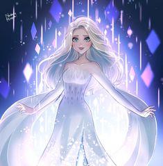 Anime Disney Princess, Disney Princess Drawings, Disney Princess Pictures, Disney Frozen Elsa, Disney Drawings, Frozen Anime, Princess Toys, Frozen Movie, Wallpaper Animes