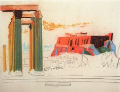 Louis Kahn, sketch @Peggy Cardillo
