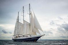 """Dutch 3 masted schooner """"Eendracht""""."""