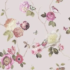 Arthouse Opera Charmed Blush Wallpaper Roses Floral Birds Garden Pink 889802 for inside wardrobe Blush Wallpaper, Accent Wallpaper, Cheap Wallpaper, Textured Wallpaper, Flower Wallpaper, Nature Wallpaper, Wall Wallpaper, Wallpaper Paste, Wallpaper Patterns