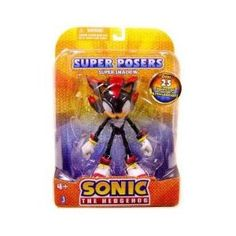 """Sonic the Hedgehog: Shadow the Hedgehog 6"""" Super Posers Action Figure (Toy)  http://www.amazon.com/dp/B003GE1XF8/?tag=science080-20  B003GE1XF8"""
