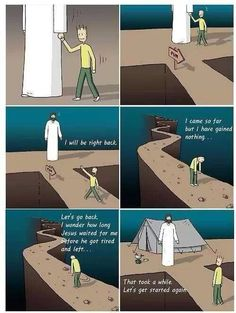 This is so true!!! When we are lost in our faith, Jesus is always there waitting for us!!!!
