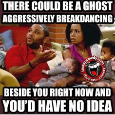 Ghost breakdancing