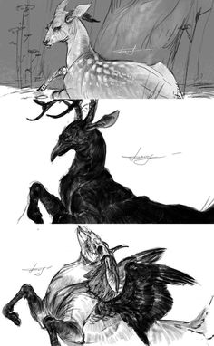 Deers by REYKAT on deviantART