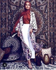 Colorful casual summer wear – Just Trendy Girls Abaya Fashion, Modest Fashion, Fashion Outfits, Fashion Styles, Dress Fashion, Muslim Women Fashion, Islamic Fashion, Hijab Fashion Inspiration, Mode Inspiration