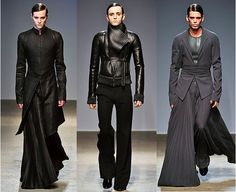 Gareth Pugh. Such incredible looks. I like the gray on the far right.