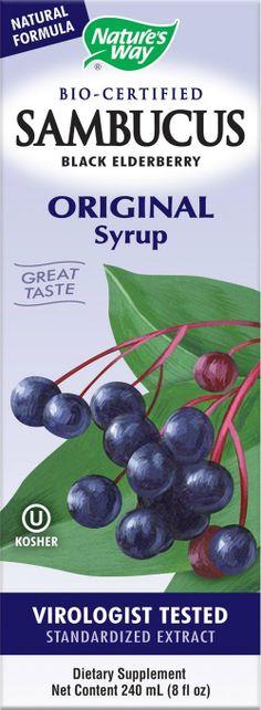 POPULAR:: Nature's Way Sambucus Black Elderberry Original Syrup, 8 Ounce: Health & Personal Care