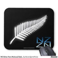 NZ Silver Fern National Emblem Patriotic Mousepad