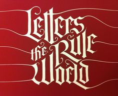 Letters Rule the World - Diseño tipográfico de Alisara Tareekes