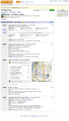 Kayak sets sights on TripIt-Dopplr clan with its own trip planner