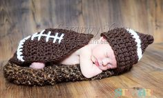 Newborn Football Hat and Cape on Etsy, $30.00