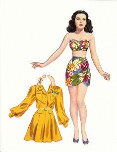 Hedy Lamarr paper doll