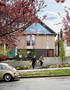 A renovated bungalow in Vancouver with a front yard