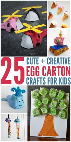 These egg carton crafts, a wonderful way to do art with the kids while still doing some upcycling with items you have around the house.