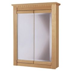 Hardware House 24'' Maplewood Medicine Cabinet in Light Maple