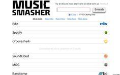 Music Smasher, encuentra cualquier tema musical en los servicios de streaming más populares