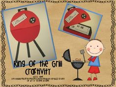 This adorable craftivity will be a hit with all of the Dads, Grandpas and Uncles!  The grill