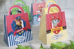 ***PLEASE NOTE*** Size:5 x 3 x 7 (with handle) Please dont forget to verify the size of these bags for fixing your requirements . Create elegant party favor to match your Paw patrol party theme with these Party bags . These favor bags are a fun way to package sweet treats for your guests. These adorable favor boxes come complete with a convenient handle dont need assembled. Fill them with candies, cookies, or your other favorite goodies for an unforgettable party favor that your guests…