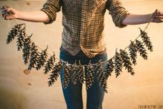 pine cone garland for Christmas