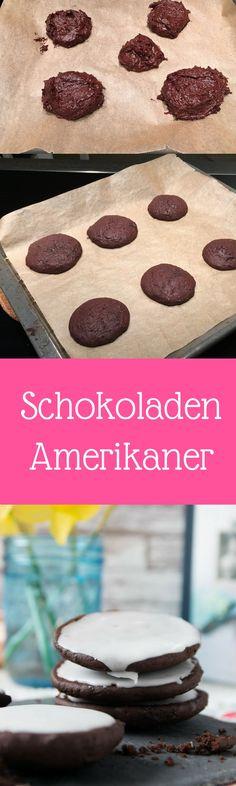 Schokoladen Amerikaner mit Zuckerguss - einfach & genial
