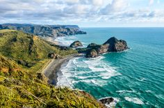O'neill Bay and Bethells Beach from Raetahinga Point, Northland, New Zealand Private Bay, Side, Sea And Ocean, Beach Walk, World, Water, Places, Wallpapers, Hd Wallpaper