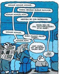 Baba homurtusu Caricatures, Smurfs, Peanuts Comics, Humor, Memes, Funny, Fictional Characters, Cartoons, Nice