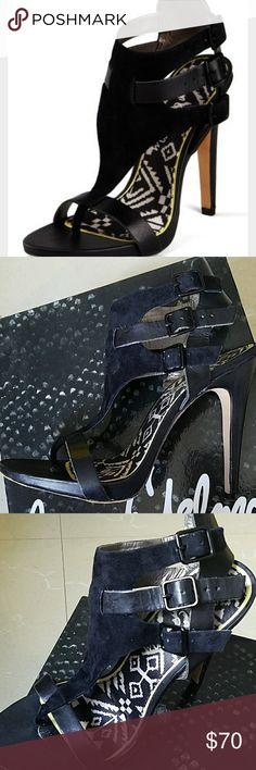 Sam Edelman black heels #Leather and #suede #blackshoes #samedelman #size10 #likenew #black #heels Sam Edelman Shoes Heels