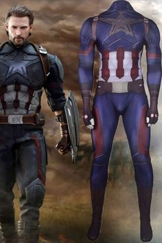 This Avengers: Infinity War Captain America Cosplay Costume is high-elastic and comfortable. It is made of 3D printed spandex fabric. Not only adults and kids can also wear it at family gatherings, parties, Halloween and so on. Adult Costumes, Cosplay Costumes, Captain America Cosplay, Superhero Cosplay, Avengers Infinity War, Spandex Fabric, Family Gatherings, Prints, Kids