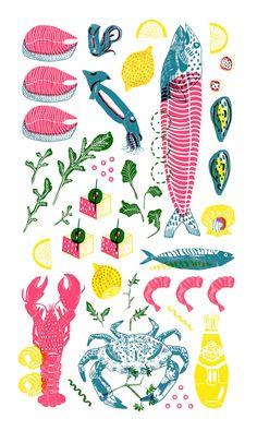 Fish Tea Towel - Camilla Perkins