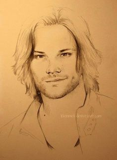 Image Detail for - SPN - Jared Padalecki by =kleinmeli on deviantART .I really like this style of drawing. Supernatural Drawings, Supernatural Fan Art, Sam Winchester, Jared Padalecki, American Horror Story, Cool Art, Art Drawings, Fanart, Sketches