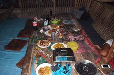 Feast at the hostel... very good evening...