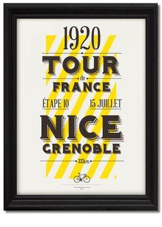 Tour de France Centenary Prints by Neil Stevens, via Behance www.boxerbranddesign.com/blog