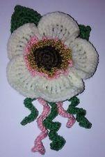 Large Crochet Cream Flower Brooch Christmas Gift Stocking Filler