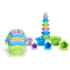 Green Toys Stacking Cups by Green Toys Inc. at BabyEarth.com, $10.95