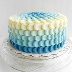 Blue Ombre Petal Cake recipe