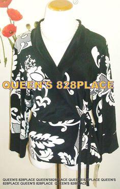 $88 Nwt Nygard women's 14 Silk Black Beige Print 3/4 S.Wrap top Shirt Blouse #Nygrd #Wrap #EveningOccasionCarrer