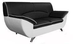 Rivera - pevný nerozkladací dizajnový 2-sed vo výbornej farebnej kombinácií. Sedačka stojí na kovových nohách, sedák je vyrobený z pružiny, čím je zaručený komfort mäkkého sedenia a tvarová trvácnosť sedačky. Na sedáku a operadle sa po ich obvode nachádza jemná tenká linka vo farbe koženky použitej v spodnej časti sedačky. Na výber sú aj ďalšie farebné kombinácie.