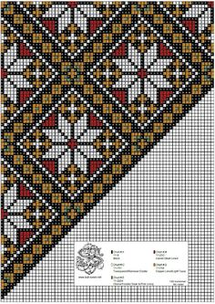 Bunad, Smykker, vev & rosemaling: Bunad Cross Stitch Designs, Cross Stitch Patterns, Knitting Patterns, Beads Pictures, Sampler Quilts, Peyote Patterns, Peyote Stitch, Tole Painting, Loom Beading