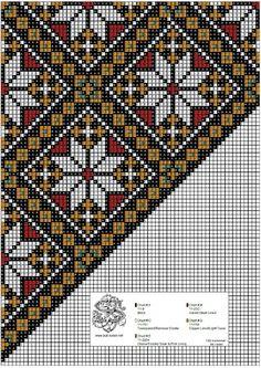 Bunad, Smykker, vev & rosemaling: Bunad Cross Stitch Designs, Cross Stitch Patterns, Knitting Patterns, Beads Pictures, Sampler Quilts, Chart Design, Peyote Patterns, Peyote Stitch, Tole Painting