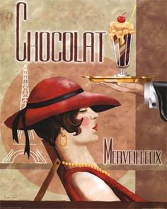 French chocolate ad for Merveilleux