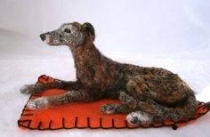 needle felted lurcher by adore62, via Flickr
