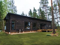Iso Haka - Salvos Garage Doors, Log Cabins, House Styles, Outdoor Decor, Houses, Home Decor, Homes, Decoration Home, Room Decor