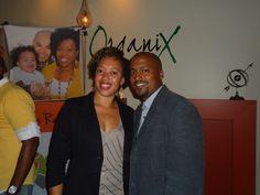 Lamar and Ronnie Tyler at OrganiX Cocktails and Tapas Lounge in Atlanta, GA